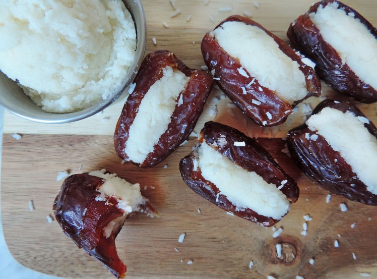 Homemade Coconut Butter Stuffed Dates 1