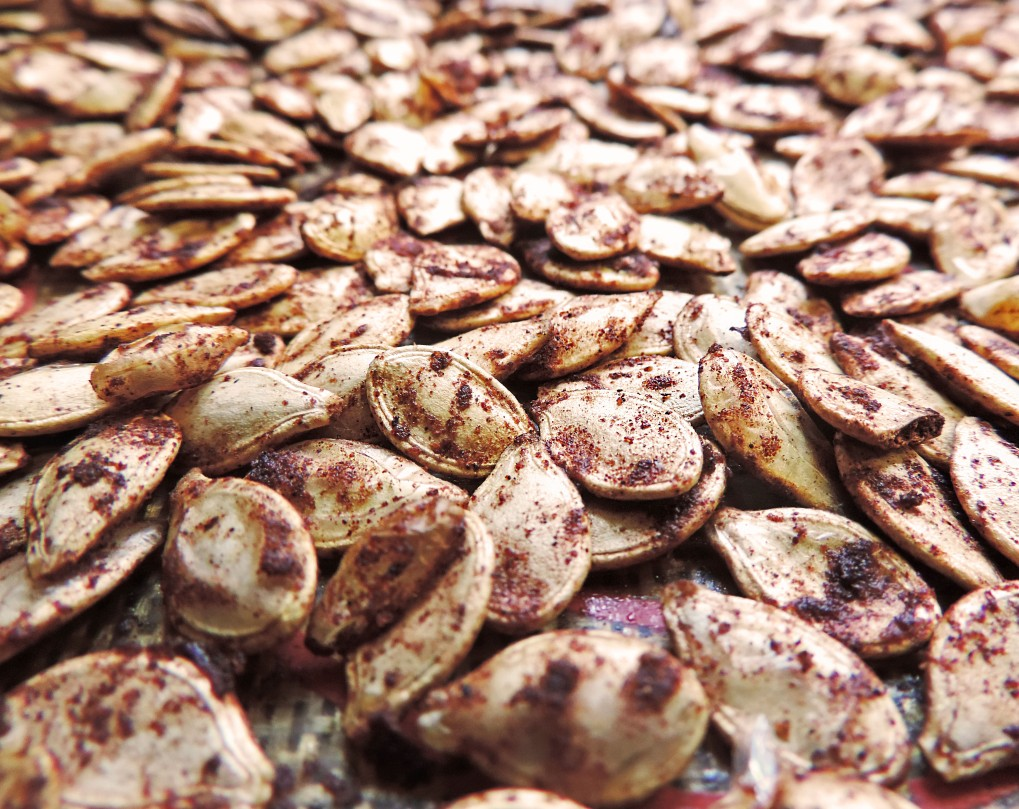 pumpkin spice roasted pumpkin seeds